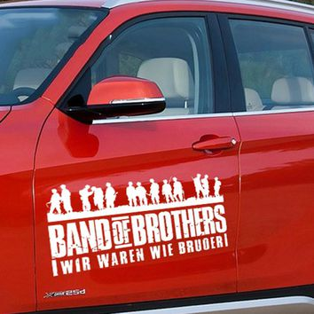 ARMY BROTHER SOLDIER group  car sticker,black/white auto door decor vinyl decals and cover,die cut  sticker accessories