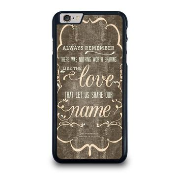 THE AVETT BROTHERS QUOTES iPhone 6 / 6S Plus Case Cover