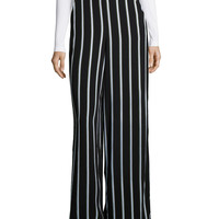 Striped Wide-Leg Pants | Lord & Taylor