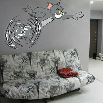 Tom & Jerry Full Color Decal, Full color sticker, colored  Tom & Jerry gc070