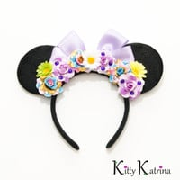 Rapunzel Mouse Ears Inspired Headband, Rapunzel Dress, Rapunzel Costume, Rapunzel Crown, Rapunzel Birthday Party, Disney Bound, Disney Ears