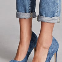 Pointed Denim Pumps