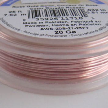 Rose Gold Wire 20 gauge Artistic Brand Bendable Soft Wire Wrapping Craft Bulk Reel Wholesale Jewelry Supplies Supply CrazyCoolStuff