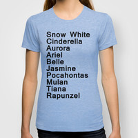 Disney Princesses T-shirt by rachaelroyalty | Society6