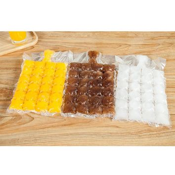 10Pcs/Lot Disposable Ice-Making Bags Ice Cube Tray Mold Makes Shot Glasses Ice Cream Mold Ice Tray Summer Kitchen Sets