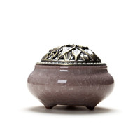 Ceramic Coil Incense Burners Holder with Metal Copper Cover  N