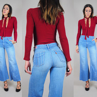 70's LEVI'S cropped bell bottoms