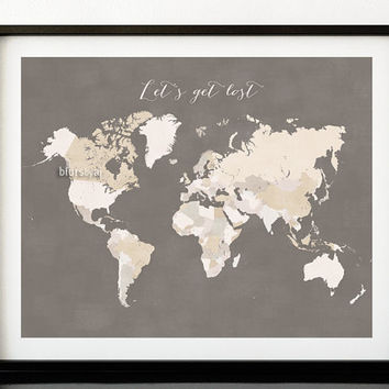 Best world map with countries names products on wanelo custom quote color size printable world map with countries names distressed vintage texture gumiabroncs