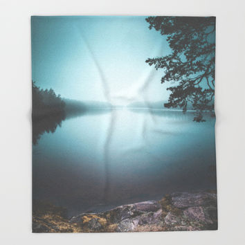 Lake insomnia Throw Blanket by HappyMelvin