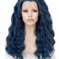 Long Lake Blue Wave Synthetic Lace Front Wig
