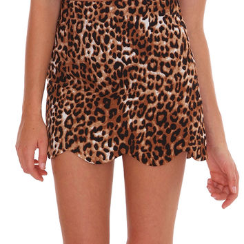 Partner In Crime Mini Skirt - Animal Print