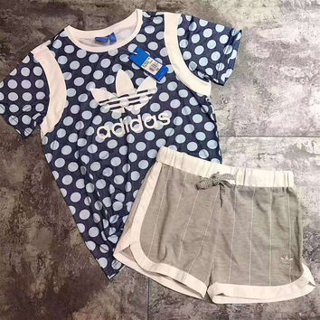 Adidas: fashion casual men and women Two piece suit