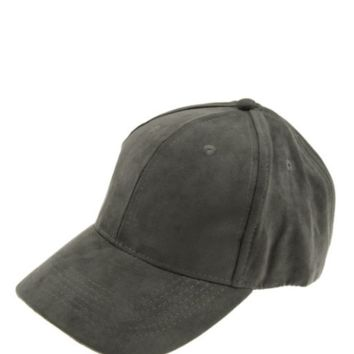 Top It Off Suede Baseball Hat-Olive
