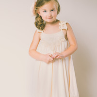 Grace Flower Girl Dress in Ivory