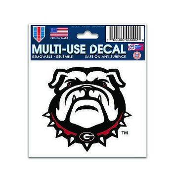 "Licensed Georgia Bulldogs Official NCAA 3"" x 4"" Automotive Car Decal 3x4 by Wincraft KO_19_1"
