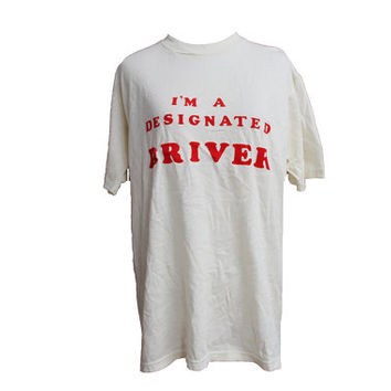 80s I'm A Designated Driver MADD T-shirt Mothers against drunk driving Size Large