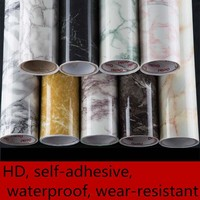 Imitation marble stickers PVC self - adhesive wallpaper waterproof wear - resistant furniture renovation stickers cabinets-632