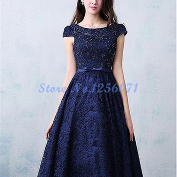 Elegant Cocktail Dresses Lace Beading Ball Gown Cocktail Dress robe de cocktail Short Formal Party Prom Gwons