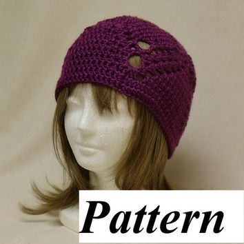 Crochet Hat Pattern Handmade Beanie Easy Pineapple Lace pdf ok to sell
