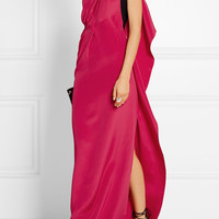 Roland Mouret - Vere one-shoulder silk-crepe gown