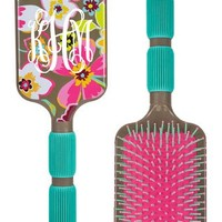 Monogrammed Chevron Plastic Hairbrush | Hair Accessories | Marley Lilly