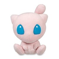 CRE Mega Mew Plush Toys Stuffed Doll With Badges Pink