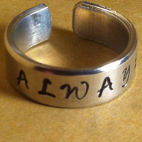 Harry Potter Inspired Ring - ''ALWAY'S'' - Aluminium Cuff Ring
