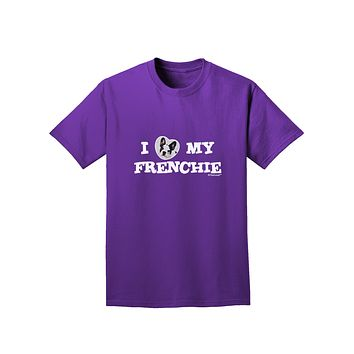 I Heart My Frenchie Adult Dark T-Shirt by TooLoud