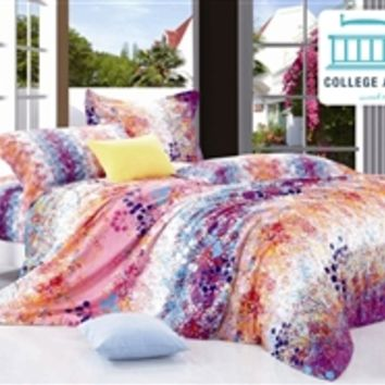 Sunburst Splash Twin XL Comforter Set - College Ave Designer Series Dorm Room Comforter For College
