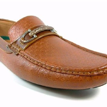 Mens Rocus Horse Bit Slip On Moccasin Loafers Shoes Ron Brown