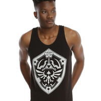 The Legend Of Zelda: Ocarina Of Time 3D Dark Link Shield Tank Top