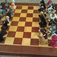 Cats vs Dogs Handmade Chess Set by dogsvscats on Etsy