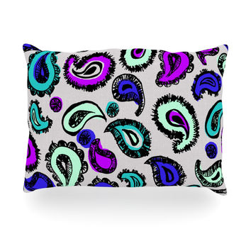 "Gabriela Fuente ""Pink Fun"" Oblong Pillow"