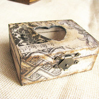 FREE SHIPPING Personalized wedding one ring box vintage by Grimme