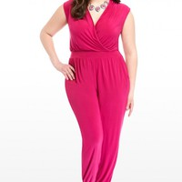 Plus Size Kendra Crossover Jumpsuit | Fashion To Figure