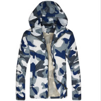 Hats Print Leaf Men Plus Size Men's Fashion Jacket [6543996035]