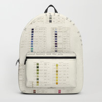 Werner's nomenclature of colour Backpack by anipani
