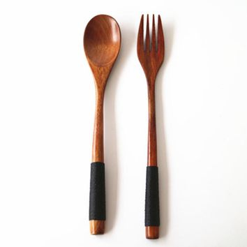 Kitchen Wooden Bamboo Spoon Cooking Utensil