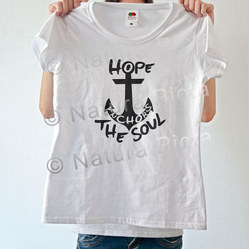 Shop anchor verse on wanelo Bible t shirt quotes