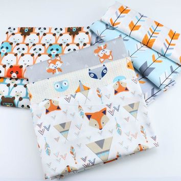 fox cartoon cloth Arrow panda printing fabric patchwork cotton fabric for Tissue Kids Bedding textile,Sewing Tilda Doll Cloth