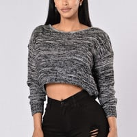 Falling into Fall Sweater - Charcoal