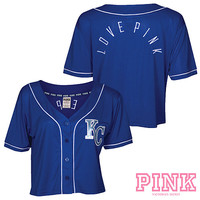Kansas City Royals Victoria's Secret PINK® Crop Baseball Jersey - MLB.com Shop
