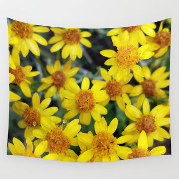 Yellow Wall Tapestry by Climbing Mountains