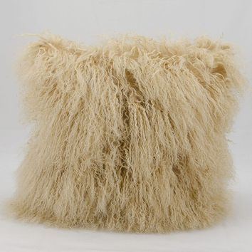 Mina Victory Faux Fur Throw Pillow