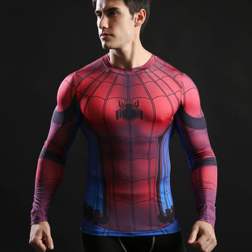 Spiderman Long-Sleeve Fitness Shirt
