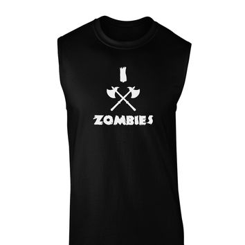 I Axe Zombies - Funny Apocalypse Dark Muscle Shirt