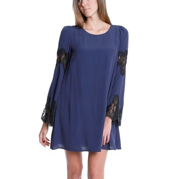 Natalie Shift Dress - Navy Lace