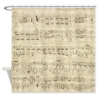Vintage Chopin Music Sheet Shower Curtain