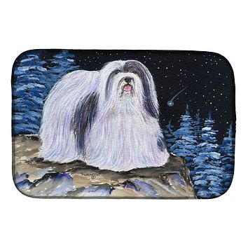 Starry Night Havanese Dish Drying Mat SS8450DDM
