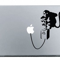 Banksy Monkey Bomb MacBook Decal Mac Apple skin sticker